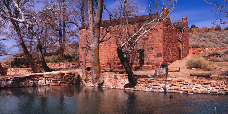 Winsor Castle in the Arizona Strip.  This was built by early Morman settlers as a fort, tithing farm, and stopping point on the way to Salt Lake City.  Fascinating history, worth a visit.