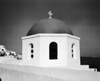 The dome of one of the churches in Oia on the island of Santorini in the Aegean Sea.