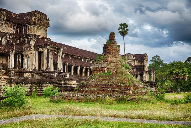 Stupa At Angkor Wat