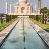 The Taj Mahal With The Reflecting Pool