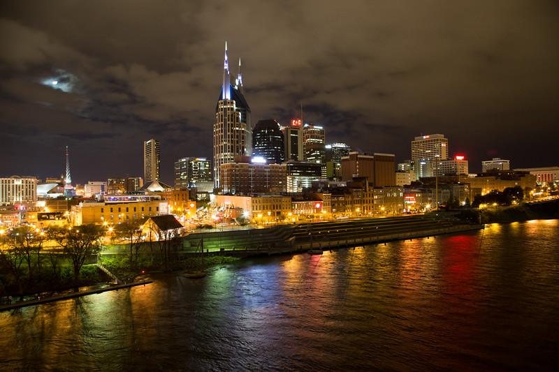 Nashville on the Cumberland River on Halloween Night, 2014