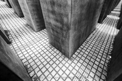 Holocaust Lines  Holocaust Memorial aka Memorial to the Murdered Jews of Europe, Berlin, Germany.