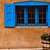 Blue Window with Geraniums