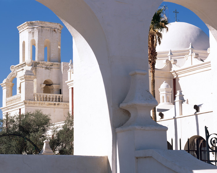 A view of the back of the San Xavier Mission, South of Tucson.