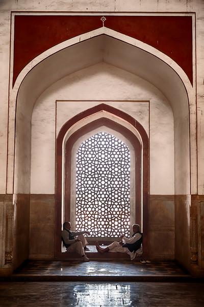 Two Men In Humayan's Tomb