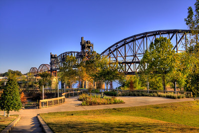 Clinton Presidential Park Bridge, Formerly the Rock Island Railroad Bridge