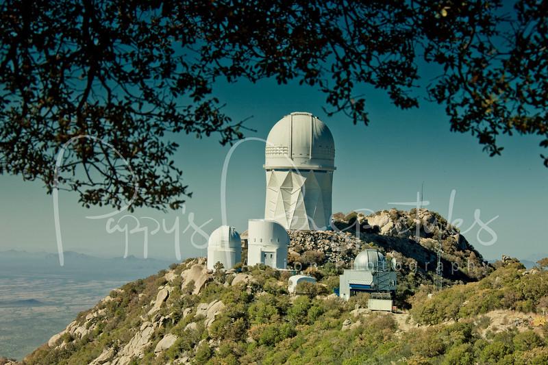 Kitt Peak, Arizona (Large dome is the Mayall 4-meter telescope)