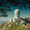 Kitt Peak, Arizona (Large dome is the Mayall 4-meter telescope)