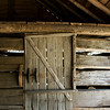 """""""The Barn Door""""  The old barn at Bud Ogle's place, Roaring Fork, Great Smoky Mountains."""
