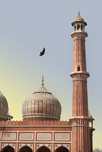 an ancient mosque in India