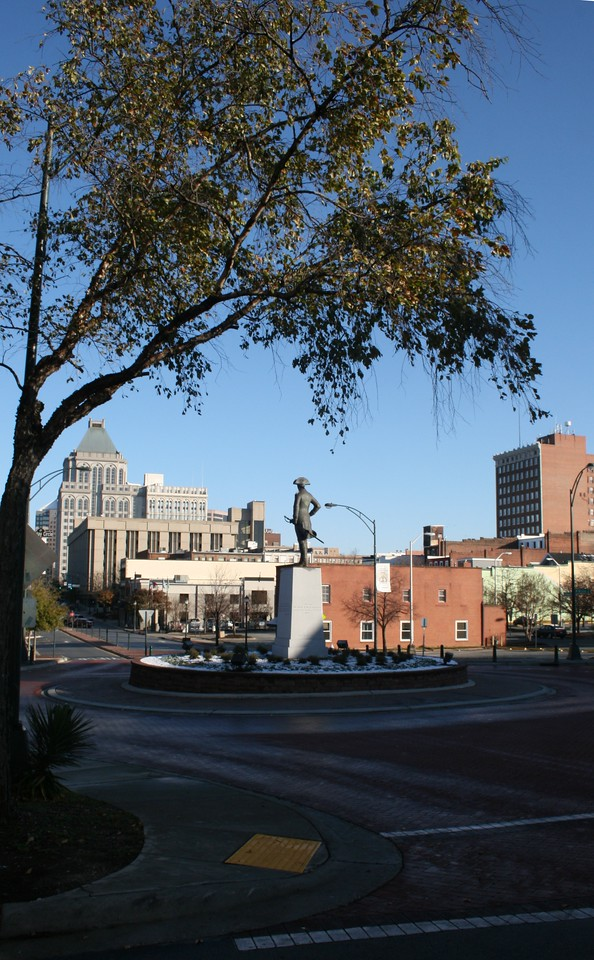 Another shot of Nathaniel Greene as he looks towards the downtown of Greensboro.