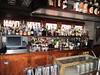 Blackened steel back bar and glass holder - Raymond Restaurant, Pasadena, CA