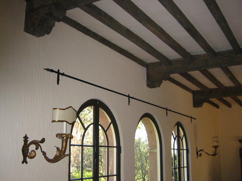 Tapestry rod - Hurd residence, Pasadena, CA