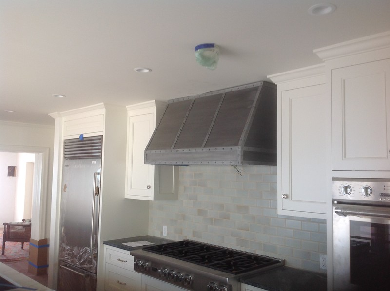 Kitchen hood - Morrissey residence, Pacific Palisades, CA
