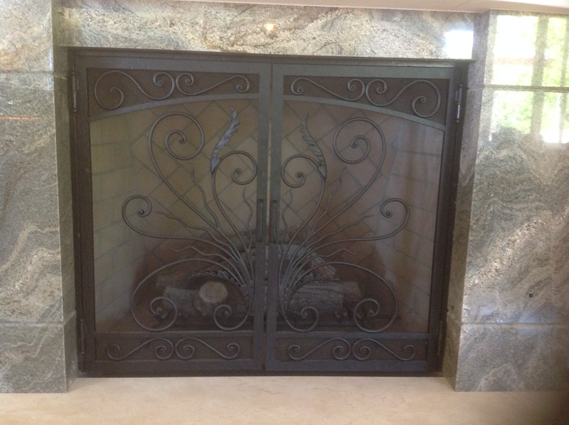 Fire screen  - Rollie residence, Palos Verdes, CA