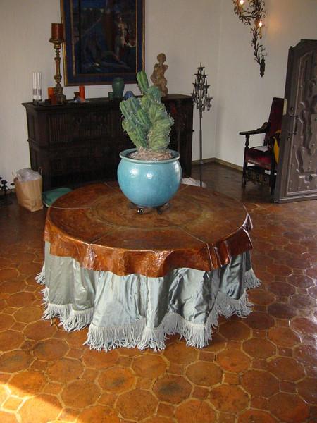 Copper table top - Hurd residence, Pasadena, CA