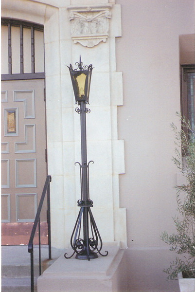 Lamp restoration (restored two and recreated two) - Friendship Baptist Church, Pasadena, CA