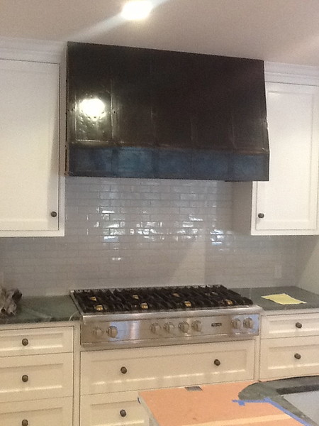 Stone kitchen  hood - High residence, San Marino, CA