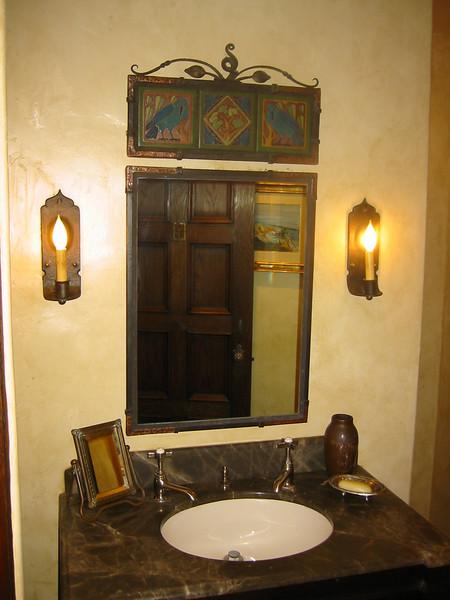 Vanity mirror - Muerer Residence, La Canada, CA