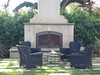 Backyard fireplace screen - Levy residence, Pasadena, CA