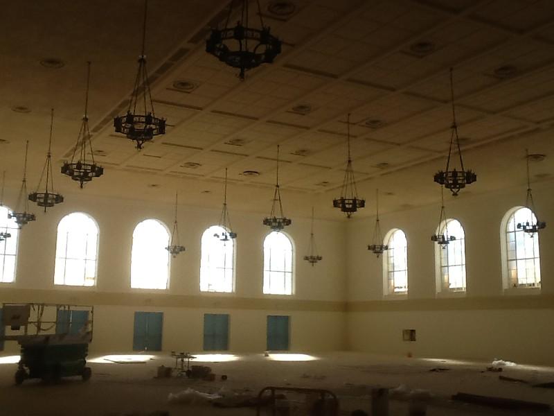 Chandelier restoration - Pasadena Civic Auditorium, Pasadena, CA