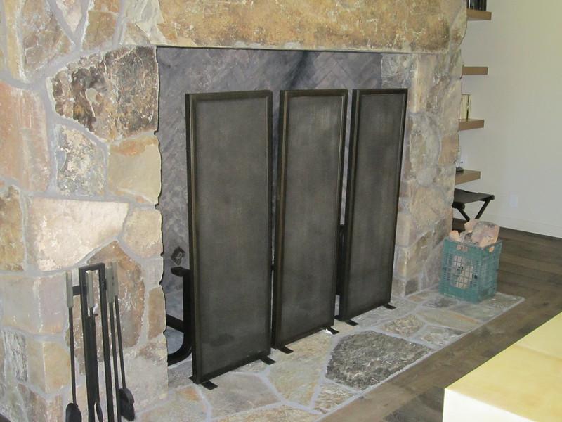 Fireplace screen - Braun residence