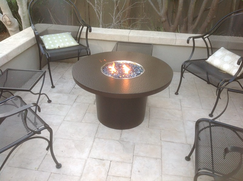 Fire pit - DeCarolis residence, Santa Monica, CA
