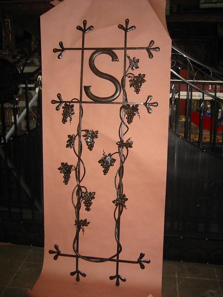 Wine cellar door grille - Sanderson residence, Pasadena, CA
