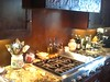 Copper kitchen hood and backsplash -  Lyng residence, La Canada, CA