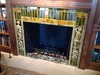 Brass fireplace bumper - Tredwell residence, La Canada, CA