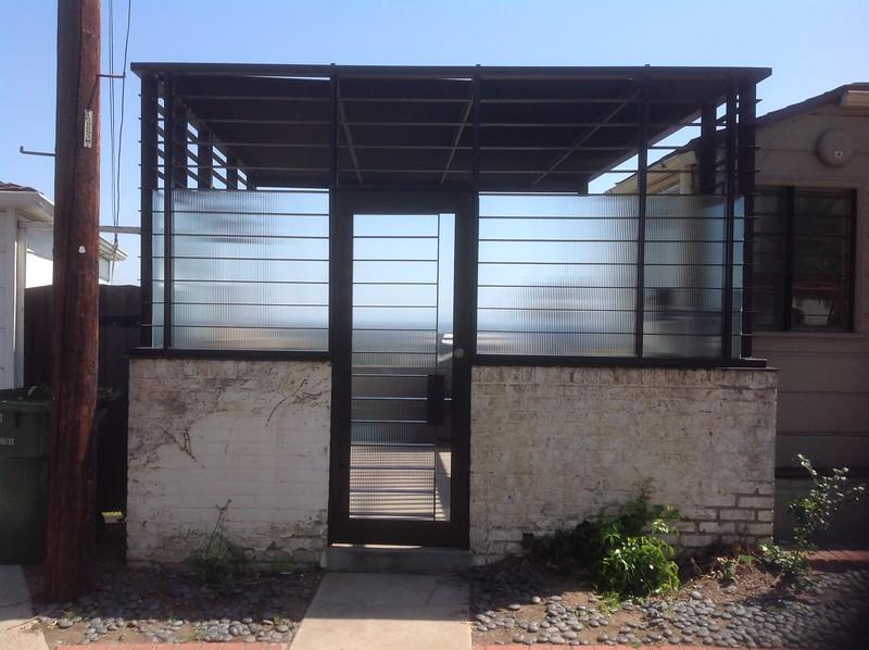 Patio cover (outside) - Brill residence, Los Feliz, CA