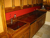 Copper bar counter top - Rose residence, La Canada, CA