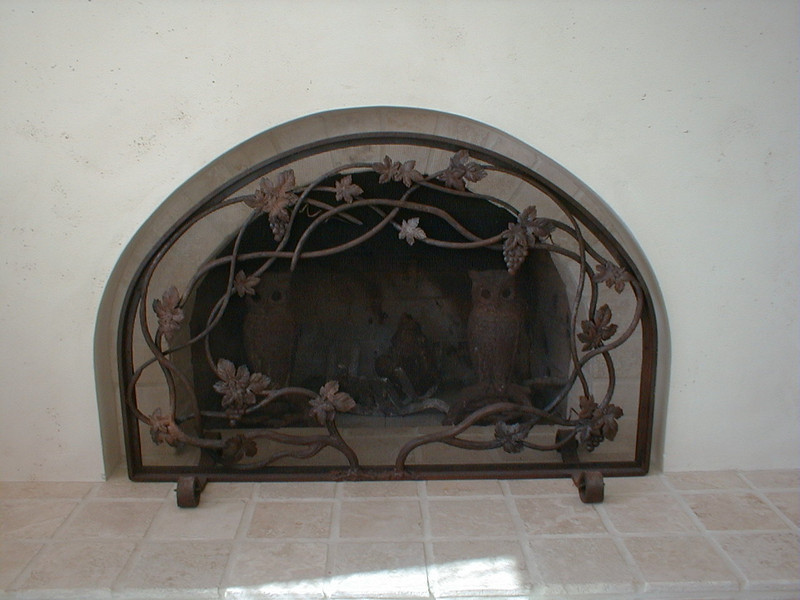 Fireplace screen - Ruchland residence, Chatsworth, CA
