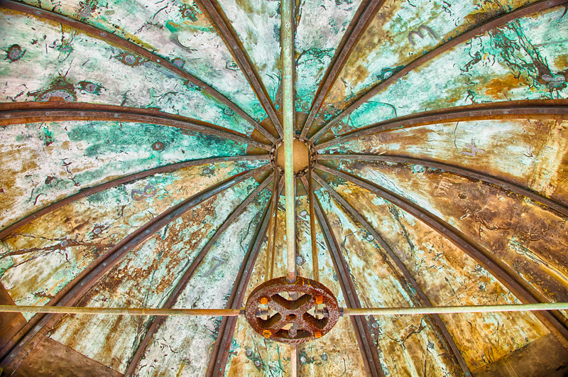 The ceiling of a watch tower