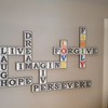 Crossword puzzle wall-hanging - DeCarolis residence, Santa Monica, CA