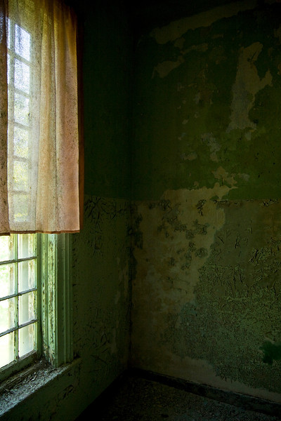 Window in Walker building, Central State Hospital, Milledgeville, GA.