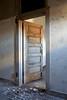 Door to patient room in isolation wing of the Ellis Island Hospital Complex.