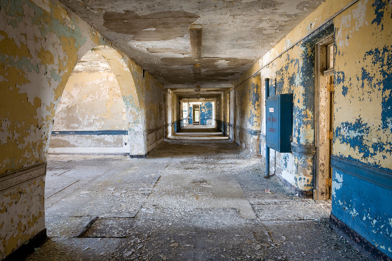 Top floor of the Male violent ward, Greystone Park State Hospital.
