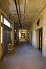 1915 hallway built in order to join all buildings in the isolation wing of the Ellis Island Hospital Complex.