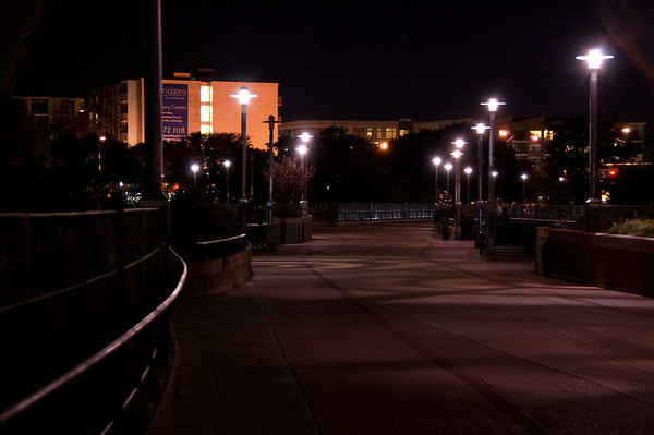Town Lake Pedestrian Bridge, sans pedestrians.