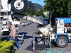 Concrete truck and pump