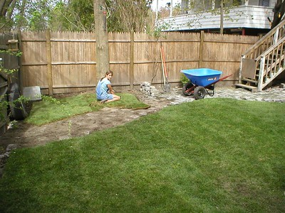 hmmm... extra sod. Time to move re-locate the dog house