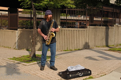 Street player at the Farmers Market under the Jones Falls Expressway -- DSC9363