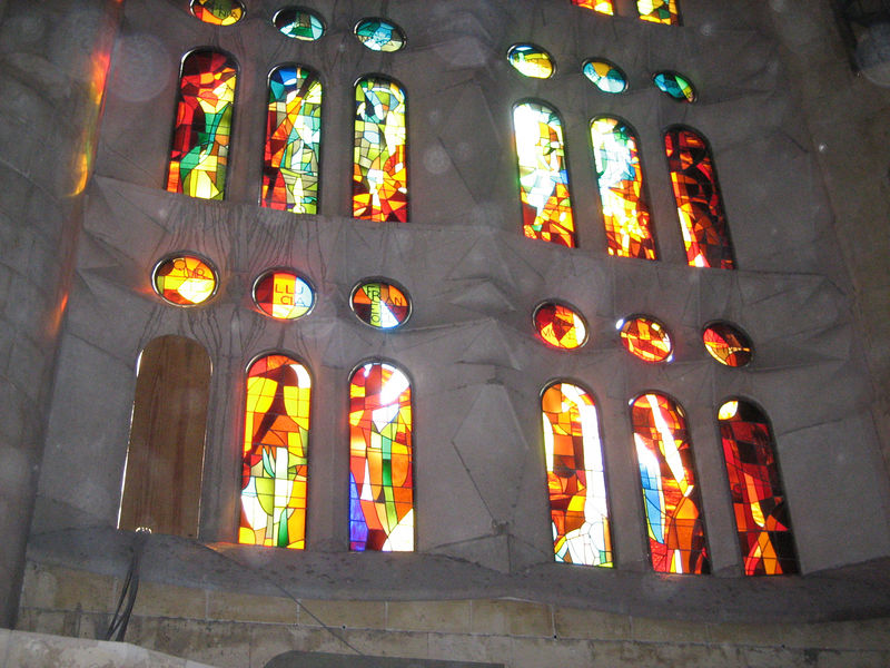 Segrada Familia church, stained glass window