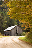 Gray Barn in Autumn, Richland County, Wisconsin