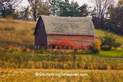 Red Barn in Autumn, Richland County, Wisconsin