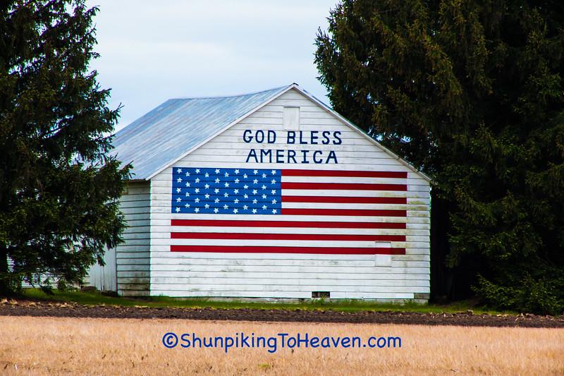 Patriotic Barn, Starke County, Indiana
