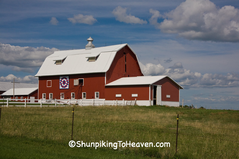 Red Quilt Barn, Rock County, Wisconsin