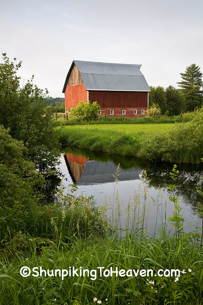 Red Barn with Reflection, Douglas County, Wisconsin