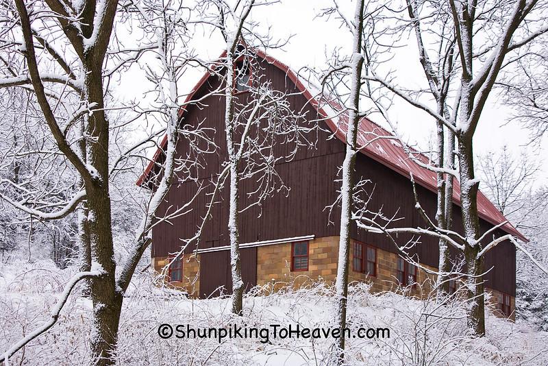 Barn in Winter Wonderland, Dane County, Wisconsin